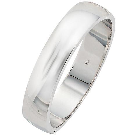 Armbaender für Frauen - SIGO Armreif Armband oval 925 Sterling Silber Silberarmreif Klappverschluss  - Onlineshop Goettgen