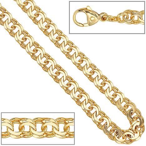 SIGO Garibaldikette 585 Gelbgold 5,2 mm 45 cm Gold Kette Halskette Goldkette