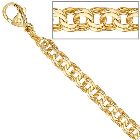 Armbaender für Frauen - SIGO Garibaldiarmband 585 Gold Gelbgold 19 cm Armband Goldarmband Karabiner  - Onlineshop Goettgen