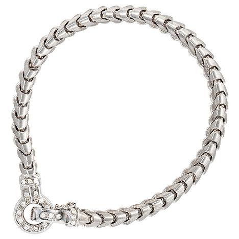 Armbaender für Frauen - SIGO Armband 585 Gold Weißgold 20 Diamanten Brillanten 19 cm Weißgoldarmband  - Onlineshop Goettgen
