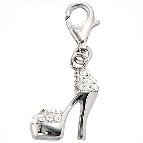 Armbaender für Frauen - SIGO Einhänger Charm High Heel 925 Sterling Silber rhodiniert SWAROVSKI® ELEMENTS  - Onlineshop Goettgen