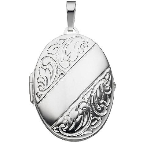 SIGO Medaillon oval für 2 Fotos 925 Sterling Si...