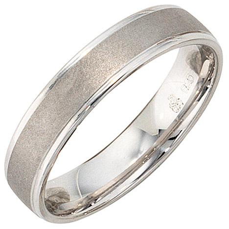 SIGO Partner Ring 925 Sterling Silber rhodiniert mattiert Silberring | Schmuck > Ringe > Partnerringe | Silber | SIGO