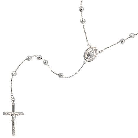 SIGO Halskette Kette Rosenkranz 925 Sterling Si...