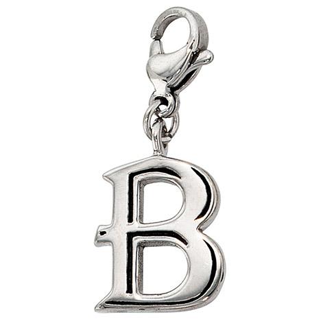 SIGO Einhänger Charm Buchstabe B Edelstahl | Schmuck > Charms > Charms Anhänger | Silber - Gold | SIGO