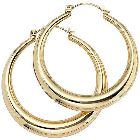 Ohrringe für Frauen - SIGO Creolen rund 333 Gold Gelbgold Ohrringe Goldohrringe Goldcreolen  - Onlineshop Goettgen