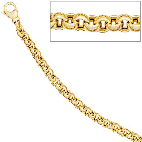 Armbaender für Frauen - SIGO Erbsarmband 585 Gold Gelbgold 19 cm Armband Goldarmband Karabiner  - Onlineshop Goettgen