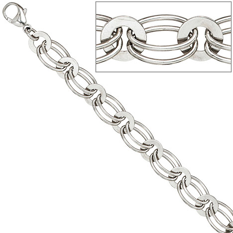 Armbaender für Frauen - SIGO Armband 925 Sterling Silber rhodiniert 19 cm Silberarmband Karabiner  - Onlineshop Goettgen