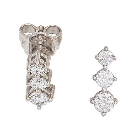Ohrringe für Frauen - SIGO Ohrstecker 585 Gold Weißgold 6 Diamanten Brillanten 0,50ct. Ohrringe  - Onlineshop Goettgen