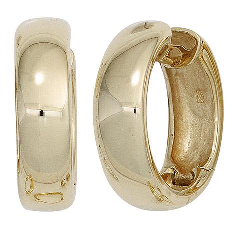 Ohrringe für Frauen - SIGO Creolen rund 585 Gold Gelbgold Ohrringe Goldohrringe Goldcreolen  - Onlineshop Goettgen