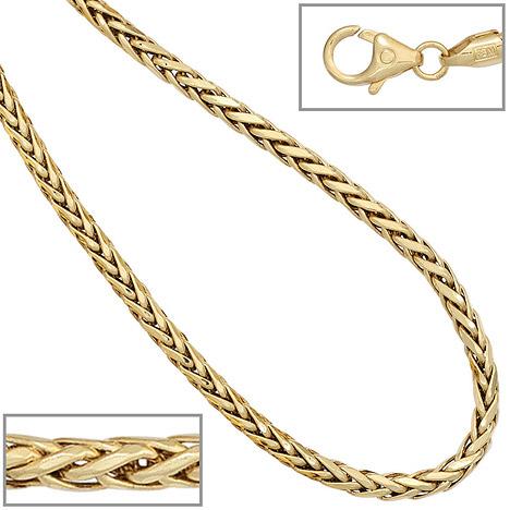 SIGO Zopfkette 585 Gelbgold 2,6 mm 45 cm Gold Kette Halskette Goldkette Karabiner | Schmuck | Gold | SIGO