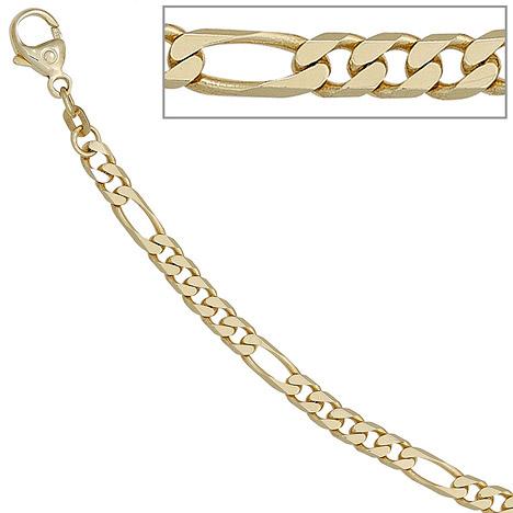 SIGO Figarokette 585 Gelbgold 4,4 mm 45 cm Gold Kette Halskette Goldkette Karabiner