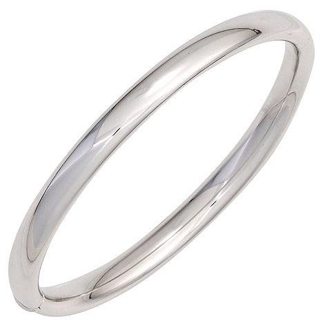 SIGO Armreif Armband oval 925 Sterling Silber Silberarmreif Kastenschloss | Schmuck > Armbänder > Armreifen | Silber | SIGO