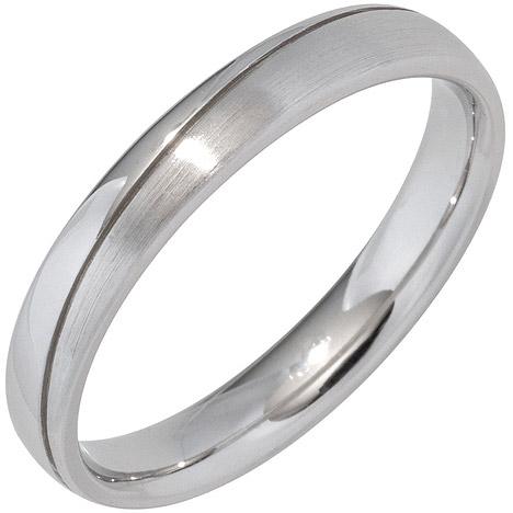 SIGO Partner Ring 925 Sterling Silber rhodiniert mattiert Silberring