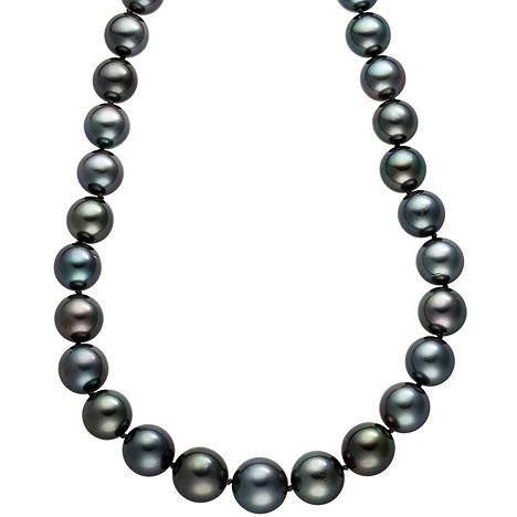 SIGO Collier Perlenkette Tahiti Perlen Verlauf 45 cm Halskette Kette | Schmuck > Halsketten > Colliers | Grau | SIGO