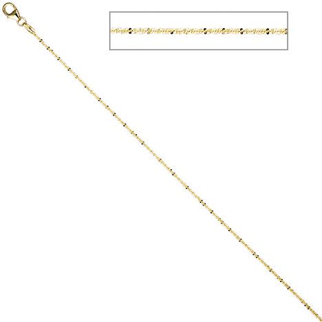 SIGO Criss-Cross Kette 333 Gelbgold 1,3 mm 45 cm Gold Halskette Goldkette Karabiner | Schmuck > Halsketten > Goldketten | Gold | SIGO