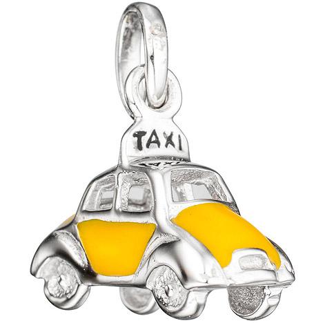 SIGO Kinder Anhänger Auto / Taxi 925 Silber mit...