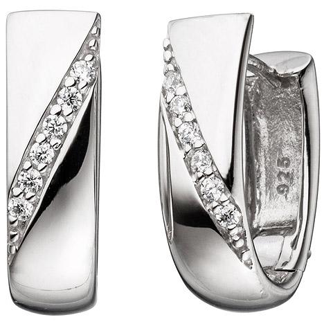 Ohrringe für Frauen - SIGO Creolen 925 Sterling Silber mit Zirkonia Ohrringe Silberohrringe Silbercreolen  - Onlineshop Goettgen