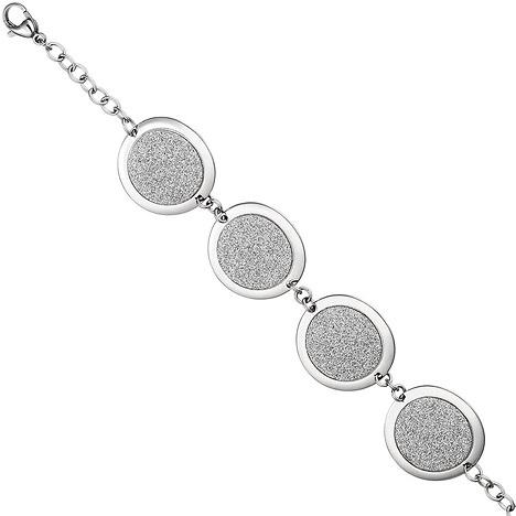 SIGO Armband Edelstahl mit Glitzereffekt 20 cm Edelstahlarmband Karabiner   Schmuck > Armbänder > Edelstahlarmbänder   Silber - Gold   SIGO