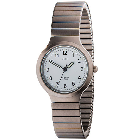 Uhren für Frauen - JOBO Damen Armbanduhr Quarz Analog Titan Flexband Damenuhr  - Onlineshop Goettgen