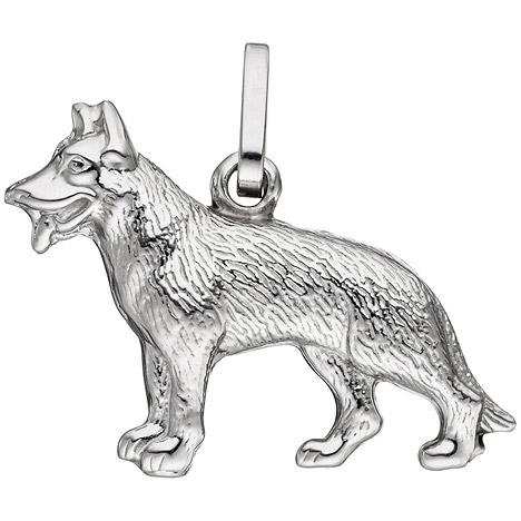 SIGO Anhänger Schäferhund Hund 925 Sterling Sil...