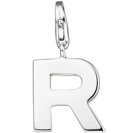 SIGO Einhänger Charm Buchstabe R 925 Sterling Silber Anhänger für Bettelarmband | Schmuck > Charms | Silber | SIGO