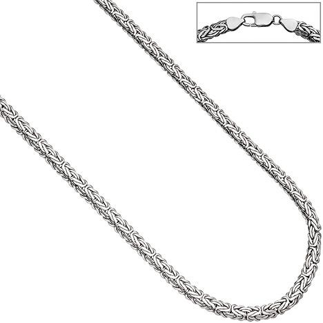 SIGO Königskette oval 925 Sterling Silber 45 cm Kette Halskette Silberkette Karabiner | Schmuck > Halsketten > Königsketten | Silber | SIGO