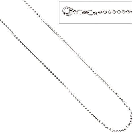 SIGO Kugelkette 925 Silber 2,0 mm 45 cm Kette Halskette Silberkette Karabiner | Schmuck | Silber | SIGO