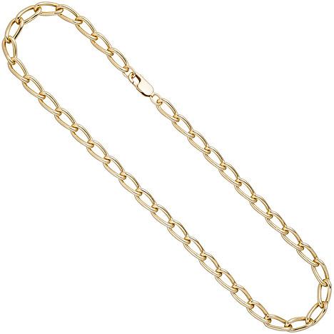 SIGO Lang-Panzerkette 925 Sterling Silber gold vergoldet 6,9 mm 45 cm Kette Halskette   Schmuck > Halsketten > Panzerketten   Gold - Silber   SIGO