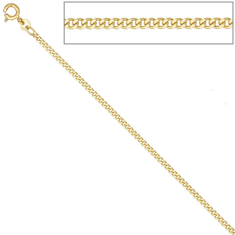 SIGO Panzerkette 585 Gelbgold 2,1 mm 80 cm Gold Kette Halskette Goldkette Federring