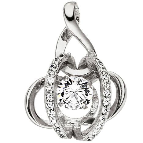 SIGO Anhänger 925 Sterling Silber mit Zirkonia Silberanhänger Kettenanhänger   Schmuck > Halsketten > Silberketten   Silber - Weiß   SIGO