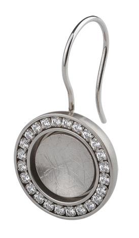 Ohrringe für Frauen - Ernstes Design Ohrhänger, Zirkonia white  - Onlineshop Goettgen