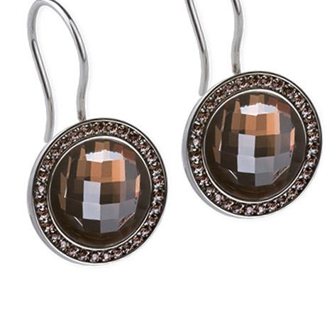 Ohrringe für Frauen - Ernstes Design Ohrhänger, Zirkonia brown  - Onlineshop Goettgen