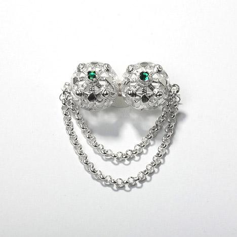 Broschen für Frauen - Costume Glamour Brosche Tracht 835 Silber  - Onlineshop Goettgen