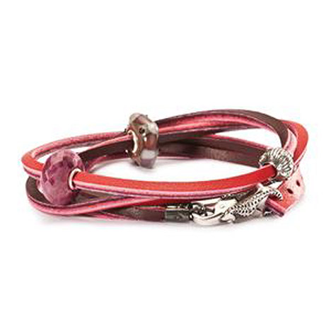 Armband 925 Silber rot bordeaux 41 cm