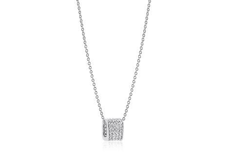 Sif Jakobs Halskette 925 Silber Matera mit weißen Zirkonia | Schmuck > Halsketten > Lange Ketten | Silber - Weiß | Sif Jakobs