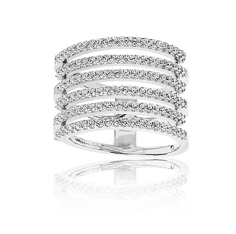 Sif Jakobs Ring 925 Silber Rufina Piccolo mit weißen Zirkonia, 56 / 17,8   Schmuck > Ringe > Silberringe   Silber - Weiß   Sif Jakobs