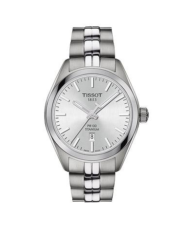 TISSOT Armbanduhr Damen PR 100 TITANIUM QUARTZ LADY | Uhren > Sonstige Armbanduhren | Silber - Grau | TISSOT