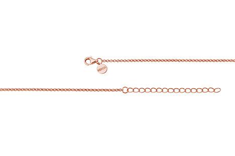 XENOX Kette 925 Silber rosé vergoldet 40-45 cm