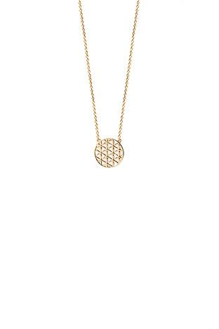 Ketten für Frauen - XENOX Collier Lebensblume 925 Silber vergoldet 40 45 cm  - Onlineshop Goettgen