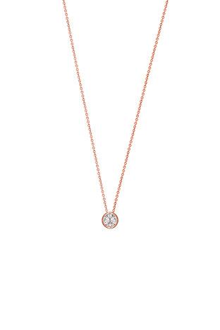 Ketten für Frauen - XENOX Collier 925 Silber Zirkonia rosé vergoldet 40 45 cm  - Onlineshop Goettgen