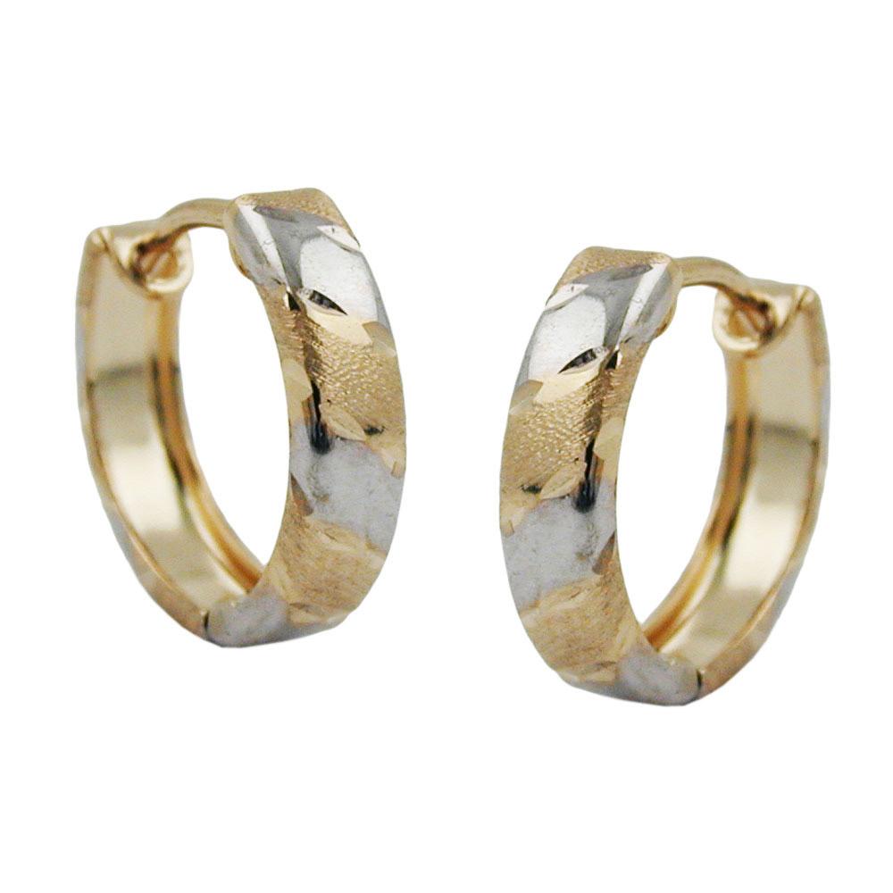 sigo creolen bicolor diamantiert gold 375 schmuck u uhren onlineshop forum. Black Bedroom Furniture Sets. Home Design Ideas