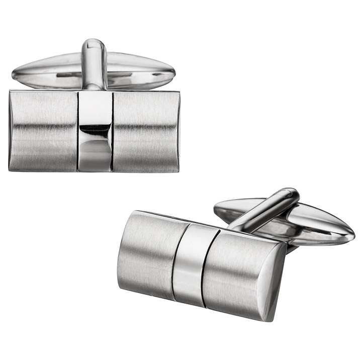 sigo manschettenkn pfe cufflinks aus edelstahl mattiert. Black Bedroom Furniture Sets. Home Design Ideas