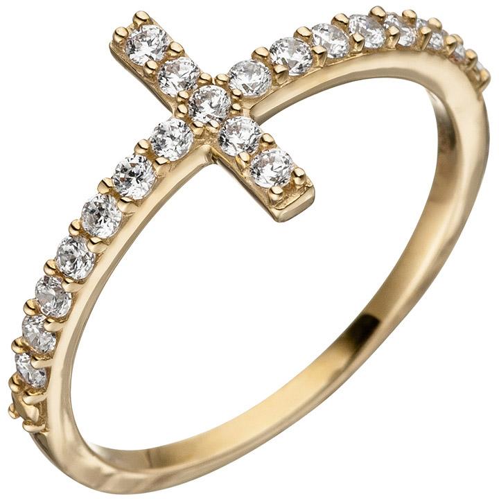 sigo damen ring 333 gold gelbgold 21 zirkonia goldring. Black Bedroom Furniture Sets. Home Design Ideas