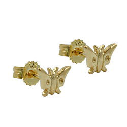 Ohrstecker, Schmetterling, Gold 375
