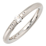 Damen Ring 950 Platin 4 Diamanten Brillanten 0,20ct. Platinring