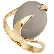Damen Ring 585 Gold Gelbgold 1 Mondstein Goldring