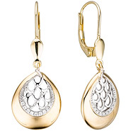 Boutons 585 Gold Gelbgold 18 Diamanten Brillanten Ohrringe Diamantohrringe