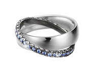 Ring 925 Silber BRILLIANCE COUPLE BLUE Zirkonia, 57 - 18,1