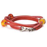 Armband 925 Silber rot 41 cm
